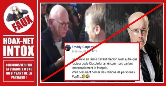 Non, le retraité sur cette photo n'est pas l'acteur américain Jude Ciccolella.