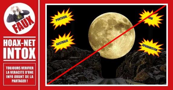 Cette photo de la Super Lune n'est qu'un montage !