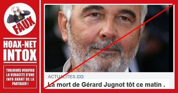 Non, Gérard Jugnot n'est pas mort