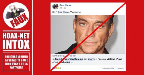 Jean-Claude Van Damme : Non, je ne suis pas mort.