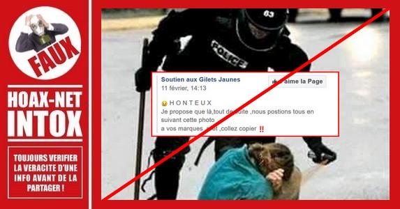 Non, ce n'est  pas un policier français qui asperge un manifestant de spray au poivre