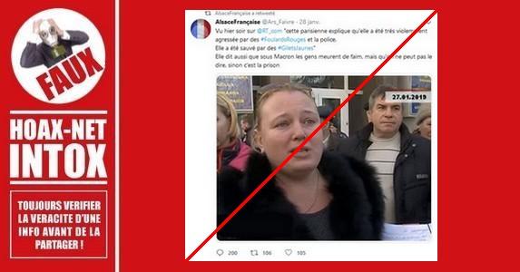 Non, cette femme n'a pas été agressée par des Foulards Rouges