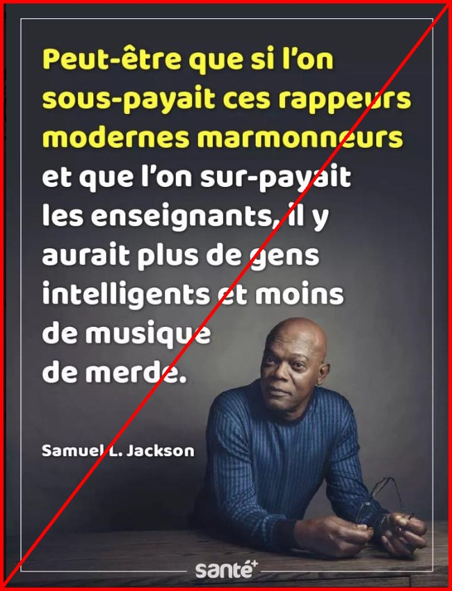 Non Samuel L Jackson N A Jamais Critiqué Les Rappeurs Au