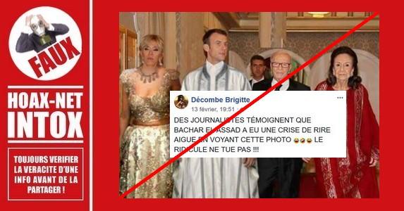Non, le couple présidentiel français ne portait pas d'habit traditionnel tunisien.