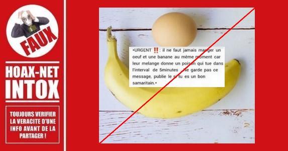 Non, le mélange banane/œuf n'est pas un poison mortel