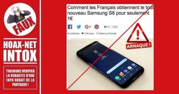Non, vous n'obtiendrez pas les nouveaux Samsung S8 ou S9 gratuitement