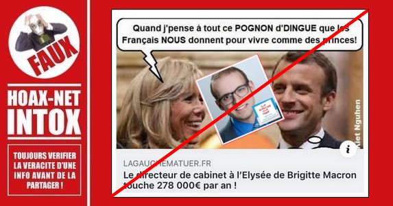 Non, le directeur de cabinet de B.Macron n'est pas payé 278.000€/an.