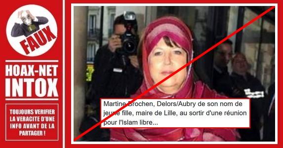 Non, cette photo de Martine Aubry n'est pas réelle.