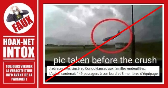 Fake news concernant le crash de l
