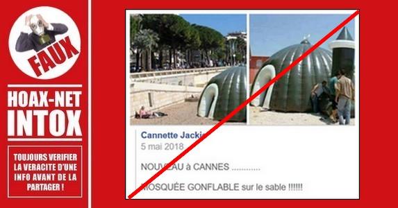 Non, des mosquées gonflables n'ont pas été vues sur les plages en France.