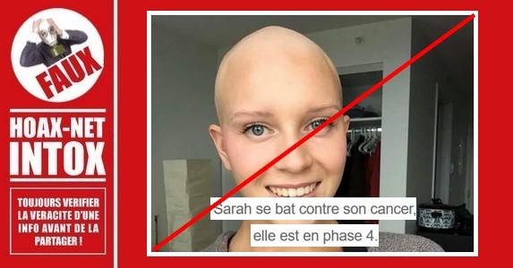Non, cette jeune femme n'a pas le cancer.