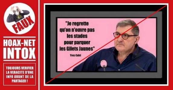 Non, Yves Calvi n'a jamais tenu ces propos.