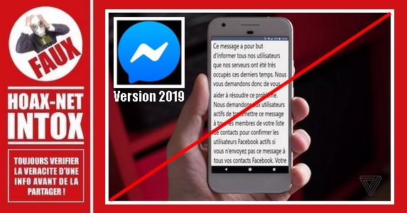 Non, ne partagez pas ce message reçu sur Messenger.