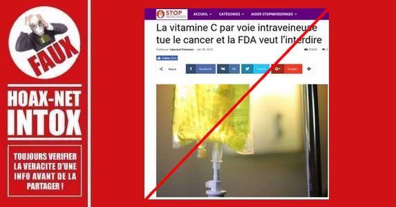 NON, la vitamine C en intraveineuse ne tue pas le cancer