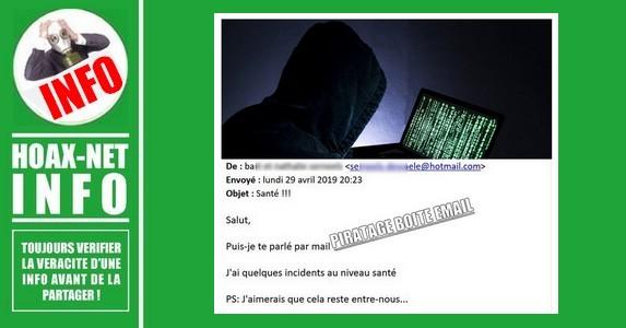 ATTENTION AU PIRATAGE DE BOITE E-MAIL
