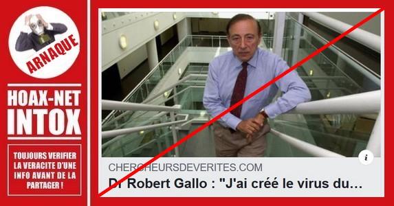 Non, le Dr Robert Gallo n