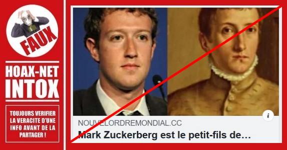 Non, Mark Zuckerberg n'est pas le petit-fils de David Rockefeller.