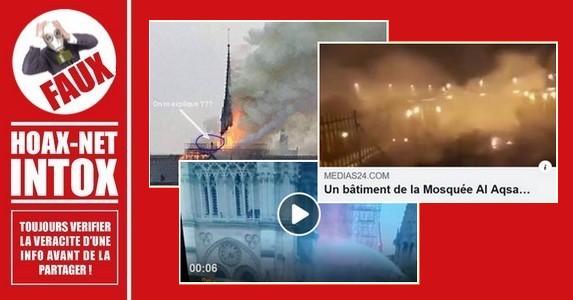 Intox sur le drame de Notre-Dame-de-Paris.