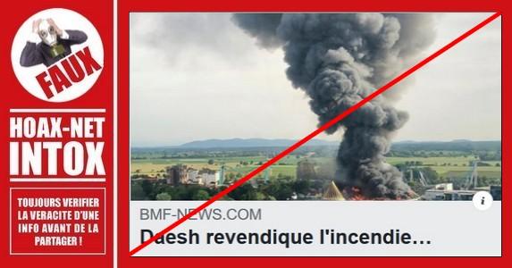 Non, Daesh n'a jamais revendiqué l'incendie de Europa Park.