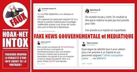 Non, l'hôpital de la Pitié-Salpêtrière à Paris n'a pas été attaqué.