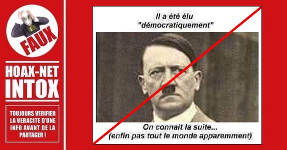 Non, Hitler n'a jamais été élu démocratiquement.