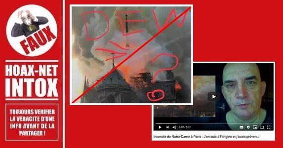 Non, ce n'est pas une arme à énergie dirigée (DEW) qui a provoqué l'incendie de Notre-Dame de Paris !
