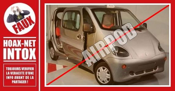Non, la voiture à air comprimé «Airpod» n