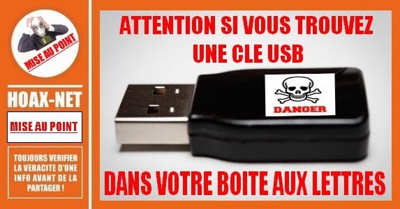 Le danger des clés USB trouvées dans les boîtes aux lettres