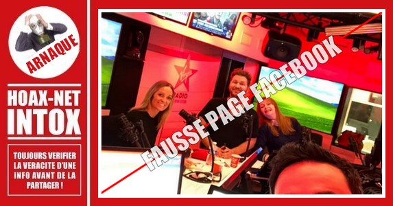 ARNAQUE – Fausse page « Virgin Radio »