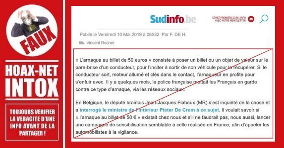 SudInfo – Une prévention basée sur une fake news de 2004.