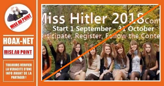 Mise au point sur le Concours «Miss Hitler»