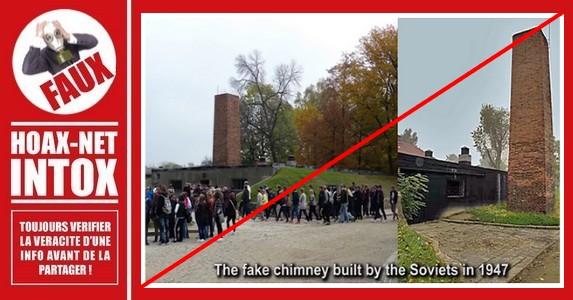 Non, la cheminée du crématoire n°1 d'Auschwitz n