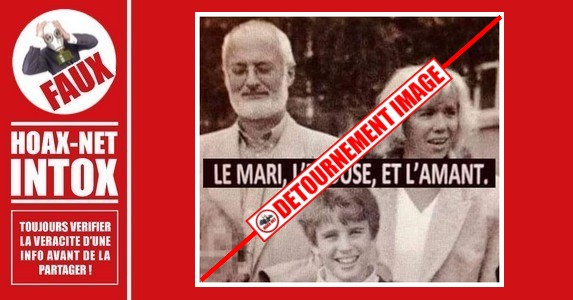 Non, cette photo ne montre pas Emmanuel Macron avec Brigitte Macron et son premier mari.