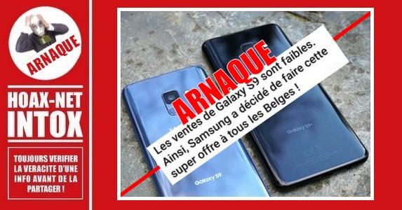 ATTENTION le Samsung Galaxy S9 à 1€50 est une Arnaque.