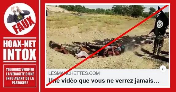 Non, il ne s'agit pas de massacre de chrétiens par ISIS-Daech.