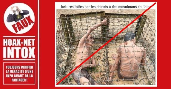Non, ces images ne montrent pas des musulmans torturés par des chinois.