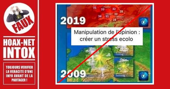 Non, une carte météo n'a pas été retouchée pour «créer un stress écolo»