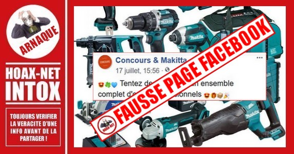 ARNAQUE-Fausse page « MAKITA »