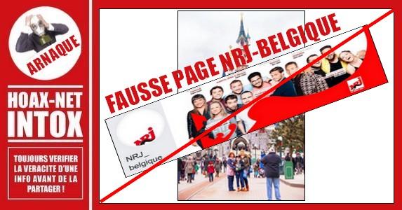 ARNAQUE-Fausse page NRJ_belgique
