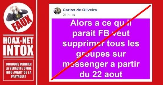 Non, Facebook ne vas pas supprimer les discussions en groupes sur «Messenger.»