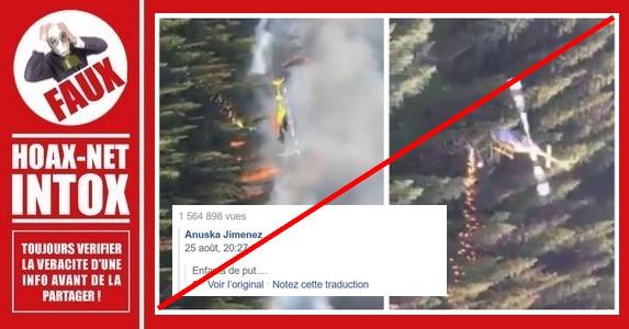 Non, cette vidéo ne montre pas un hélicoptère allumant les feux de forêt en Amazonie en 2019.