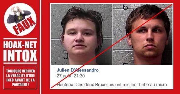 Non, ce couple n'est pas belge et encore moins bruxellois.