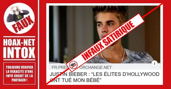 Non, les élites d'Hollywood n'ont pas tué le bébé de Justin Bieber