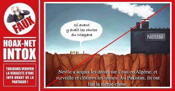 Non, Nestlé ne s'est pas approprié l'eau en Algérie.