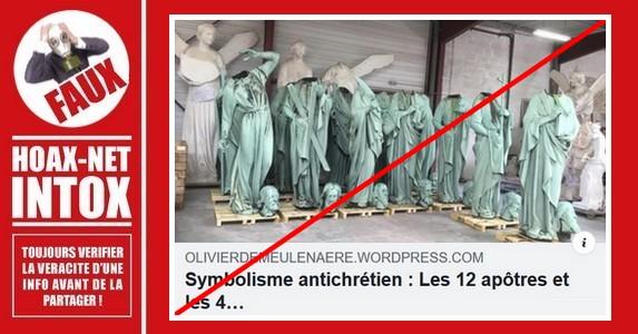 Non, la décapitation de ces statues n