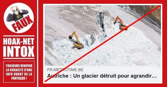Non, ce n'est pas la destruction d'un glacier pour étendre le domaine skiable