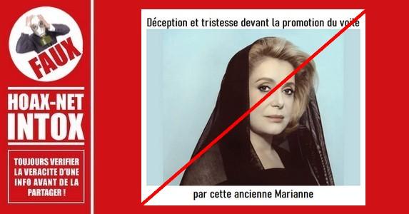 Non, cette photo de Catherine Deneuve voilée n'est pas actuelle.