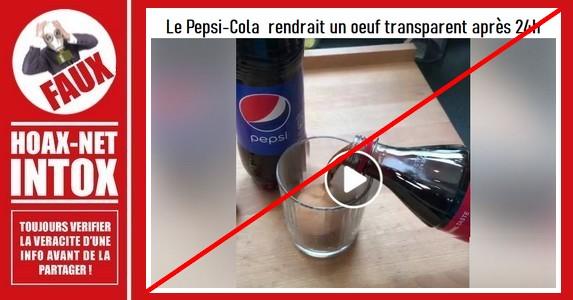 Non, tremper un œuf dans du Pepsi ne vous donnera pas ce résultat