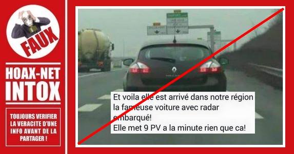 Non, ces «Renault Mégane avec radars» n