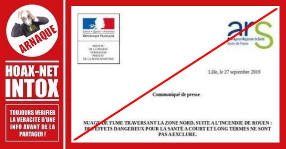 Rouen – Le FAUX communiqué.